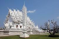 Thailand, Chiang Rai, Wat Rong Khun Buddhist Temple