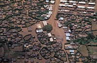 Africa, Kenya. tipycal ´manhatas´ villages from the air