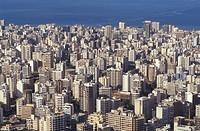 Lebanon, Beirut, aerial view