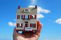 Miniature house for sale in hand