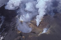Italy, Sicily: aerial view of Etna volcano