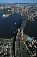 Australia, Sydney. Cityscape and Harbour Bridge