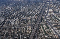 USA, California, Los Angeles, aerial view of the suburbs