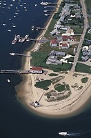 USA, Massachusetts, Nantucket, aerial view of Brant Point