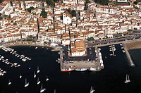 Spain, Port de la Selva. aerial view