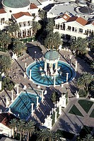 USA,Las Vegas,The Ceasar´s Palace hotel and casino, from the air