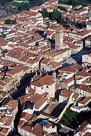 Italy,Veneto, Bassano del Grappa aerial view