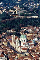 Italy, Lombardy, Brescia aerial view