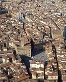 Tuscany, Florence, Piazza della Signoria, aerial view