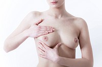 girl with hands on her breast