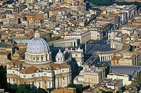 Rome, Vatican, Aerial view