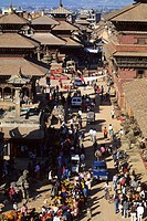 Nepal, Patan. Durbar square and temples