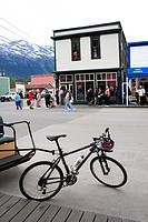 Bicycle , Skagway , Alaska , U.S.A. United States of America
