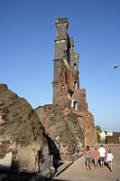 tower of church of St. Augustine , built in 1602 , UNESCO World Heritage , Old Goa , Velha Goa , India