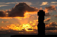Easter Island. Chile. Moai at Ahu Tahai