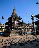 Nepal, Patan. Durbar square and temple
