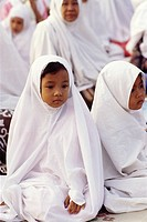 Muslim girls. Java, Indonesia.
