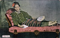 Burmese girl on a postcard