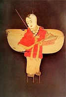 kite painted as ancient boy