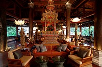 Spa Reception prevously Hotel Lobbyat Mandarin Oriental Dhara Dhevi, Chiang Mai, Thailand