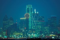 USA Texas Dallas , night skyline