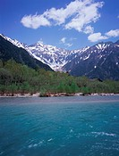 Azusa River in Kamikochi, Nagano Prefecture, Japan