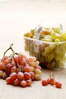 Grape in plastic box