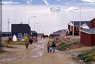 Capitol of Northern Greenland, Inuit village of Qaanaag