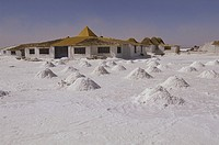 Bolivia, Salar de Uyuni, Hotel made of salt