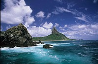 Sight of the Morro de Fora, Fernando de Noronha Island, Pernambuco, Brazil