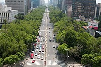 Reforma Avenue taken from viewpoint of Angel de la Independencia Mexico City