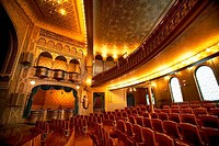 Interiors of a theater, Mabel Tainter Memorial Building, Menomonie, Wisconsin, USA