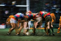 Scrum during Rugby Sevens Championships in Hong Kong