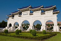 Gate of the Chiang Kai-shek Memorial Hall Taipei Taiwan