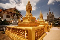 Buddhist temple in the city of Battambang, Cambodia, Southeast Asia