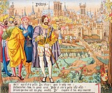 Paris in the 15th century  After a Beauvais tapestry  From Les Artes au Moyen Age, published Paris 1873