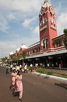 India, Tamil Nadu, Chennai ex Madras, Central Railway Station