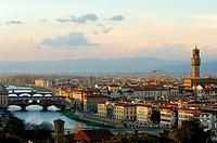 Italy, Tuscany, Florence, Ponte Vecchio bridge