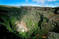 Reunion Island, the crater of Piton de la Fournaise