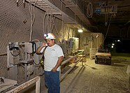 Carlsbad, New Mexico - A worker at the Waste Isolation Pilot Plant, where radioactive nuclear waste from America's nuclear weapons program is stored i...