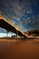 England, Redcar & Cleveland, Saltburn_By_The_Sea. The Victorian pier at Saltburn_By_The_Sea, the first and last on the North East coast.