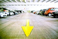 England, West Midlands, Birmingham. Car parking facilities in Brindleyplace