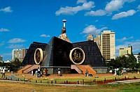 KENYA, NAIROBI, CENTRAL PARK, NYAYO MONUMENT