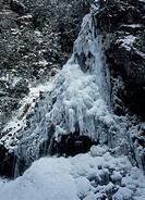Iced Mifune Waterfall, Kawakami, Yoshino, Nara, Japan