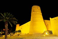 SAUDI ARABIA, RIYADH, AL_MUSMAK MUSEUM, AT NIGHT