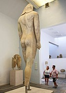Greece, Greek Islands ,Samos, Vathi capital, archaeological museum, Kouros statue