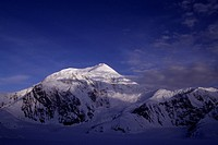 Mount Foraker in the Alaska Range in Alaska