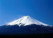 Mt.Fuji And Blue Sky, Yamanashi, Japan