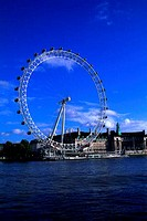 GREAT BRITAIN, LONDON, RIVER THAMES, ´EYE OF LONDON´, FERRIS WHEEL, LONDON AQUARIUM