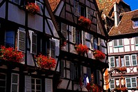 FRANCE, COLMAR, HALFTIMBERED HOUSES